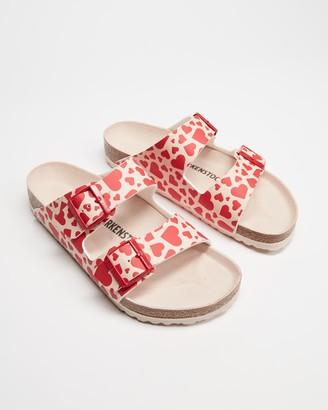 Birkenstock Women's Neutrals Flat Sandals - Arizona Birko-Flor Regular - Women's - Size 36 at The Iconic