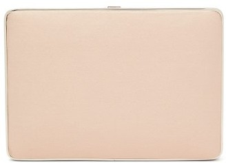 Hunting Season The Square Compact Satin Clutch - Nude