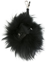 Fendi feather keyring - men - Calf Leather/Feather - One Size