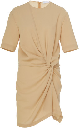 Narciso Rodriguez Draped Wool-Crepe Midi T-Shirt Dress