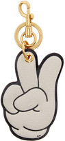 Anya Hindmarch Ivory Victory Keychain
