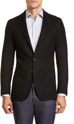 Canali Black Edition Classic Fit Solid Knit Wool Sport Coat
