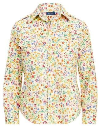 Ralph Lauren Floral Cotton Military Shirt