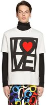 Love Moschino Love Printed Cotton Jersey T-Shirt