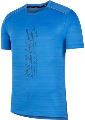 Nike Mens Dri-FIT Miler Graphic Running Tee
