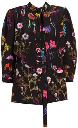 Stella McCartney Floral-Print Silk Blouse