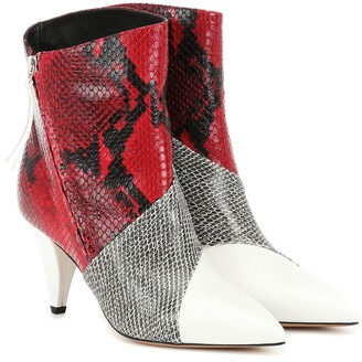 Isabel Marant Latts snake-effect ankle boots