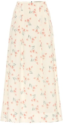 Roland Mouret Exclusive to Mytheresa Badby floral seersucker midi skirt