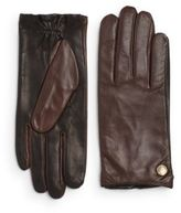 Vince Camuto Two-Tone Leather Gloves
