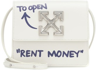 Off-White Jitney 0.7 leather crossbody bag