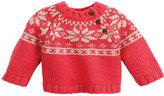 Petit Bateau Unisex Baby Jacquard Knit Sweater With Motifs