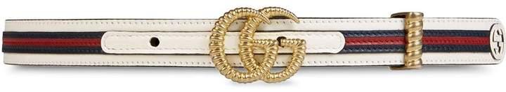 Gucci Torsion double G buckle belt