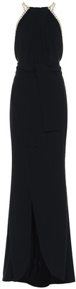 Elie Saab Embellished crepe dress