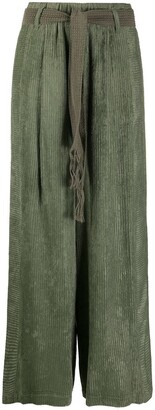 Alysi Textured Wide Leg Trousers