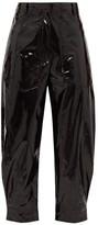 Tibi Patent Trousers - Womens - Black