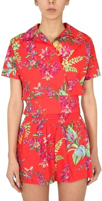 Etro Floral Printed Short Sleeve Shirt
