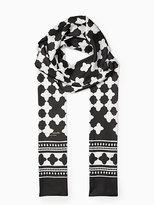 Kate Spade Lantern long silk skinny scarf