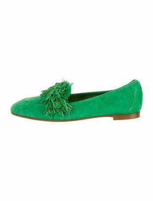 Aquazzura Wild Suede Loafers w/ Tags Green
