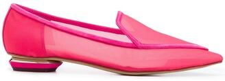 Nicholas Kirkwood Beya mesh pointed toe loafers