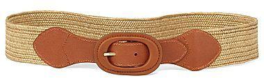 Liz Claiborne Wide Straw Panel Stretch Belt