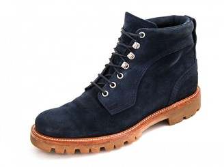 Bally Navy Suede Boots
