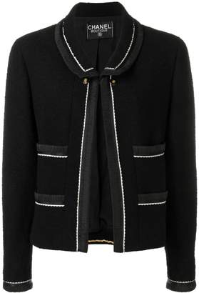 Chanel Pre-Owned 1990's contrasting details jacket