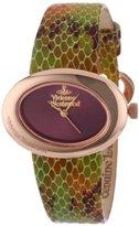 Vivienne Westwood Women's VV014RS Ellipse Swiss Quartz Rose Gold Bezel Watch