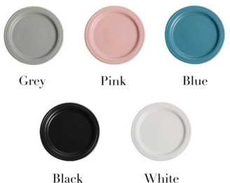 Goodnight Macaroon 'Pony' Nordic Round Flat Ceramic Plate (5 Colors)