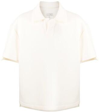 Maison Margiela oversized jersey polo shirt