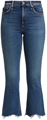 Rag & Bone Nina High-Rise Flared Ankle Jeans