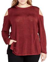 Rachel Rachel Roy Plus Cold-Shoulder Sweatshirt