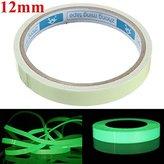 GBz-16 Self Adhesive Green Luminous Tape Waterproof Photoluminescent Tape 12mm Wide Glow In The Dark Stage Home Decor