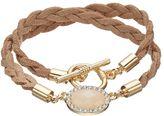 Lauren Conrad Braided Faux Suede Toggle Wrap Bracelet