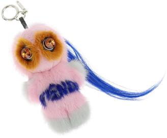 Fendi Multicolor Mink Fur Bag Bug Bag Charm and Key Holder
