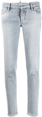 DSQUARED2 Stonewashed-Effect Skinny Jeans