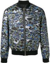 Les Hommes printed bomber jacket - men - Cotton/Polyester/Spandex/Elastane - 50