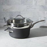Crate & Barrel Calphalon Contemporary TM Non-Stick 4.5-qt. Saucepan with Steamer