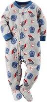 Carter's Baby Boys 1 Pc Fleece Footed Pajamas