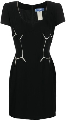 Thierry Mugler Pre Owned Geometric Detail Slim-Fit Dress