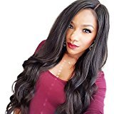 Elva Hair Lace Front Human Hair Wigs Body Wave 130%-180% Density Glueless Lace Front Human Hair Wigs For Black Women Wavy Wig (24inch with 150% density natural color)