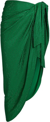 Balmain Crystal Pareo Wrap Skirt