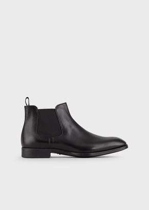 Giorgio Armani Leather Beatle Boots