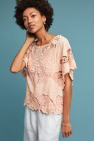 Anthropologie Victoria Lace Top, Pink
