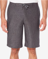 "Perry Ellis Men's Drawstring Linen 11"" Shorts"