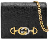 Gucci Zumi Pebbled Card Case/Wallet