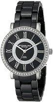 Stuhrling Original Women's 630.01 Orchestra Stainless Steel Watch with Black Ceramic Bracelet