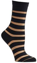 Ozone Women's Sheer Stripe Crew Socks