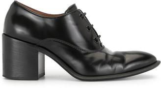 Céline Pre Owned Block Heel Lace-Up Shoes