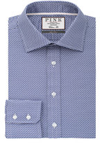 Thomas Pink Strummer Texture Classic Fit Button Cuff Shirt