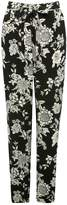 M&Co Floral print tapered trousers